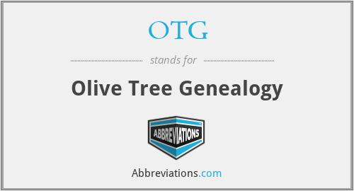 OTG - Olive Tree Genealogy