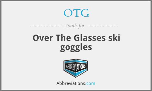 OTG - Over The Glasses ski goggles