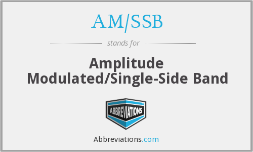 AM/SSB - Amplitude Modulated/Single-Side Band