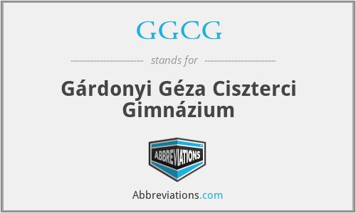 GGCG - Gárdonyi Géza Ciszterci Gimnázium