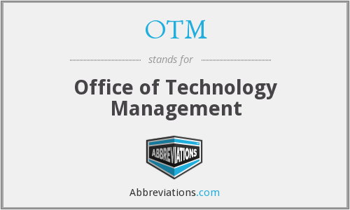 OTM - Office of Technology Management
