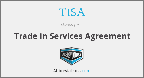 Tisa Trade In Services Agreement