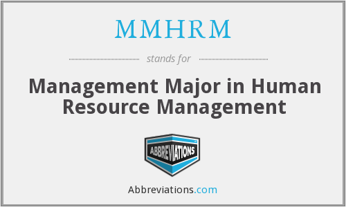 What does MMHRM stand for?