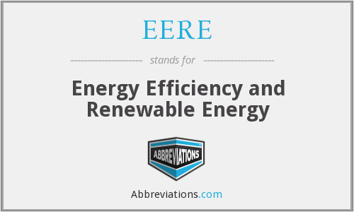 What does EERE stand for?