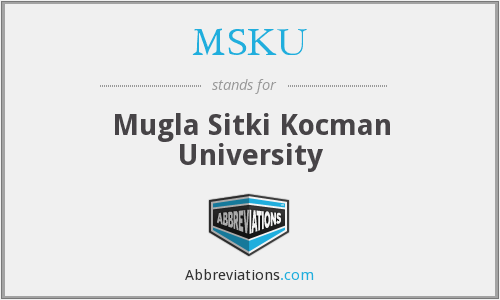 What does MSKU stand for?