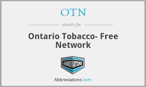 OTN - Ontario Tobacco- Free Network
