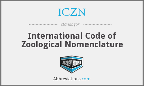 What does ICZN stand for?