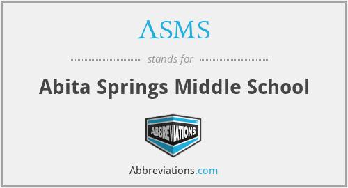 ASMS - Abita Springs Middle School