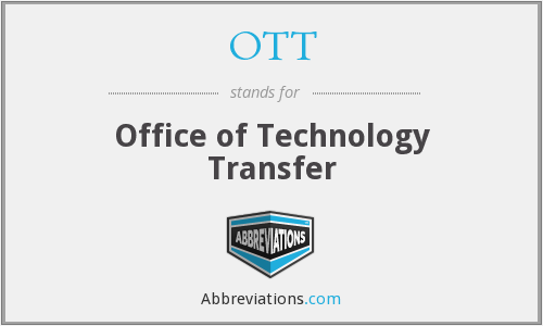 OTT - Office of Technology Transfer