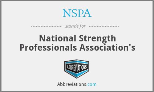 NSPA - National Strength Professionals Association's