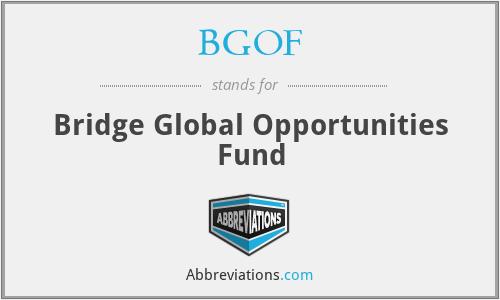 BGOF - Bridge Global Opportunities Fund