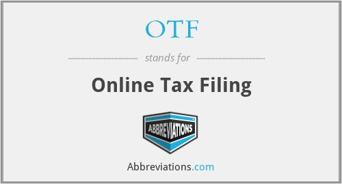 OTF - Online Tax Filing