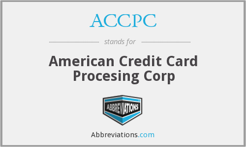 What does ACCPC stand for?