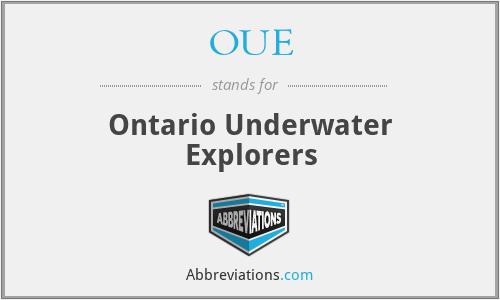 OUE - Ontario Underwater Explorers
