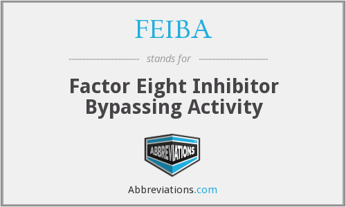 FEIBA - Factor Eight Inhibitor Bypassing Activity