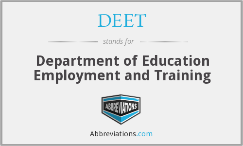 DEET - Department of Education Employment and Training