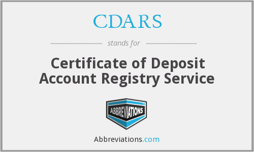 What does CDARS stand for?