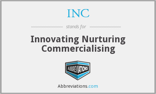 INC - Innovating Nurturing Commercialising