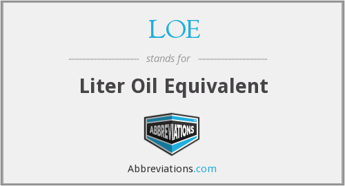 LOE - Liter Oil Equivalent