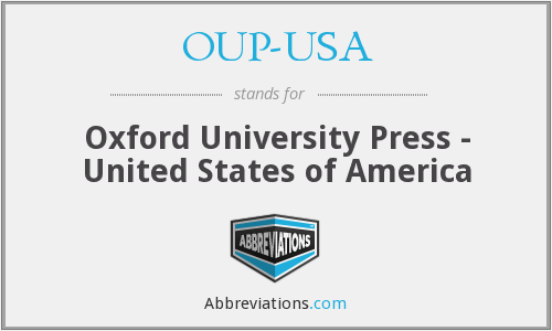 OUP-USA - Oxford University Press - United States of America