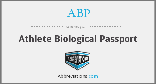 ABP - Athlete Biological Passport