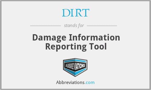 DIRT - Damage Information Reporting Tool