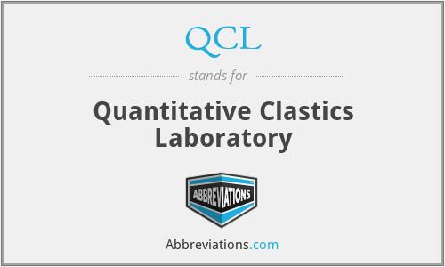 QCL - Quantitative Clastics Laboratory