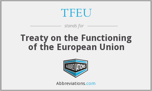 What does TFEU stand for?