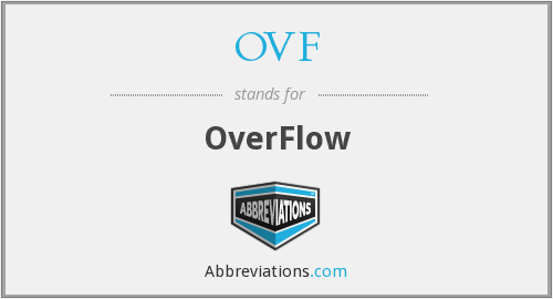 What is the abbreviation for overflow?