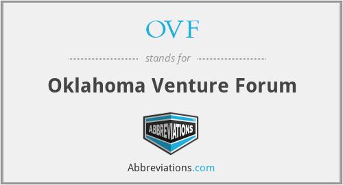 OVF - Oklahoma Venture Forum