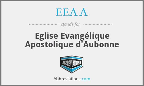 EEAA - Eglise Evangélique Apostolique d'Aubonne