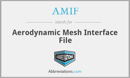 AMIF - Aerodynamic Mesh Interface File