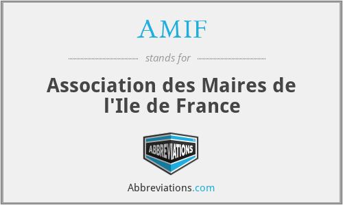 AMIF - Association des Maires de l'Ile de France