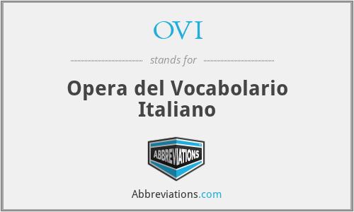 OVI - Opera del Vocabolario Italiano