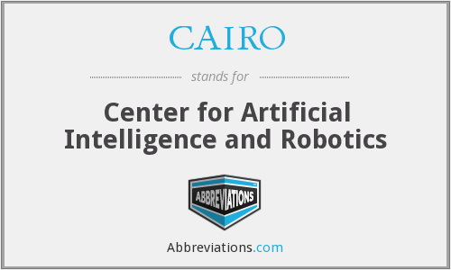 CAIRO - Center for Artificial Intelligence and Robotics