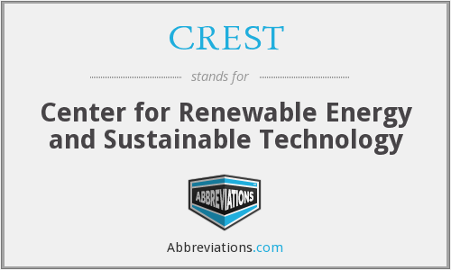 CREST - Center for Renewable Energy and Sustainable Technology