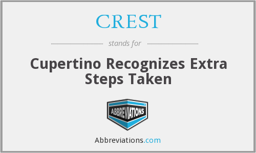 CREST - Cupertino Recognizes Extra Steps Taken