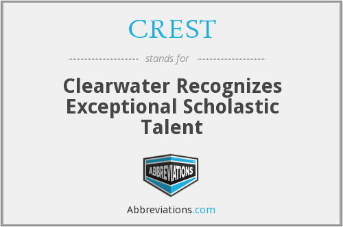 CREST - Clearwater Recognizes Exceptional Scholastic Talent
