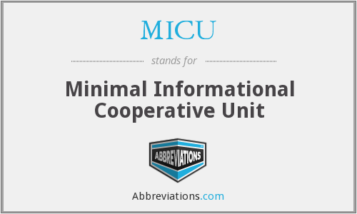 MICU - Minimal Informational Cooperative Unit