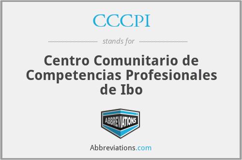 CCCPI - Centro Comunitario de Competencias Profesionales de Ibo