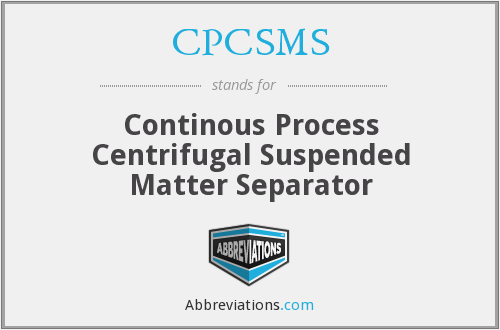 What does CPCSMS stand for?
