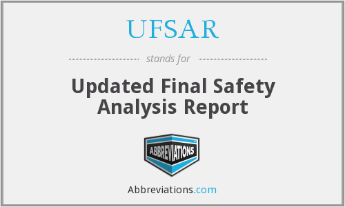 What does UFSAR stand for?