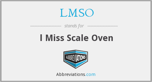 LMSO - l Miss Scale Oven