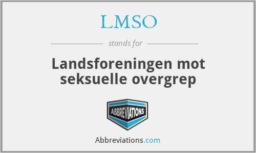LMSO - Landsforeningen mot seksuelle overgrep