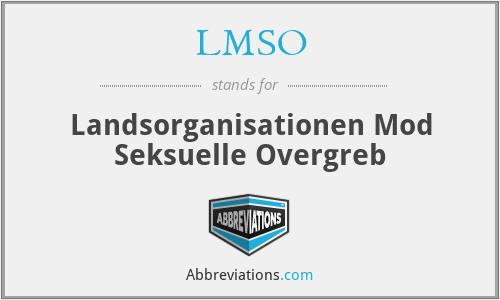 LMSO - Landsorganisationen Mod Seksuelle Overgreb
