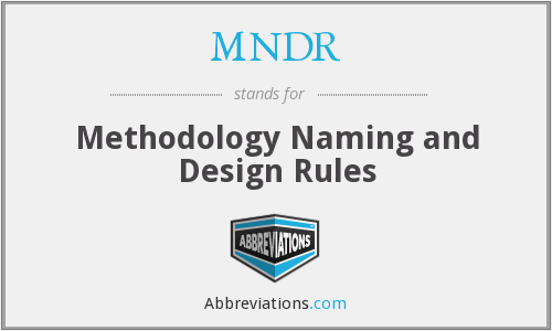 What does MNDR stand for?