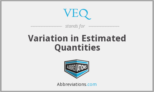 VEQ - Variation in Estimated Quantities