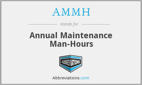 AMMH - Annual (or Aviation) Maintenance Man-Hour