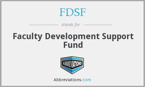 FDSF - Faculty Development Support Fund
