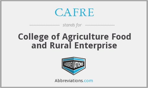 What does CAFRE stand for?